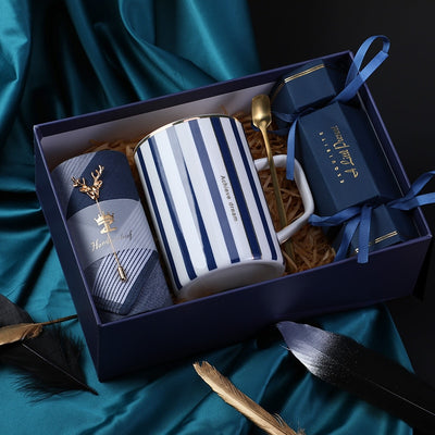 Luxury Ceramic Cup With Matching Set Gift Box