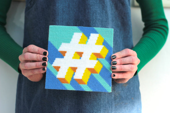 Hashtag '#' Needlepoint Kit - Hannah Bass