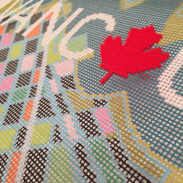 Vancouver City Map Needlepoint Kit - Hannah Bass