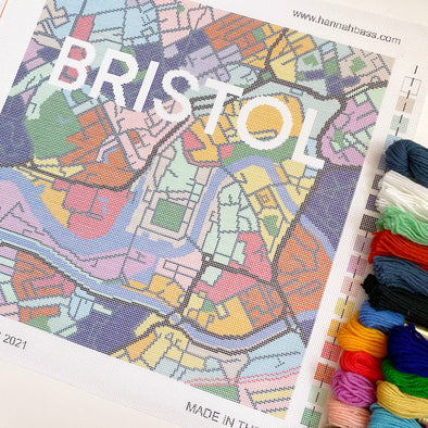 Bristol City Map Needlepoint Kit