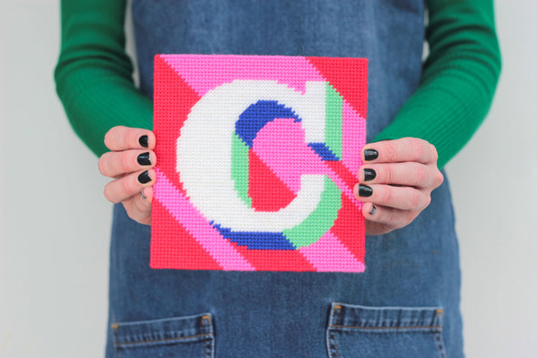 Letter 'C' Needlepoint Kit - Hannah Bass