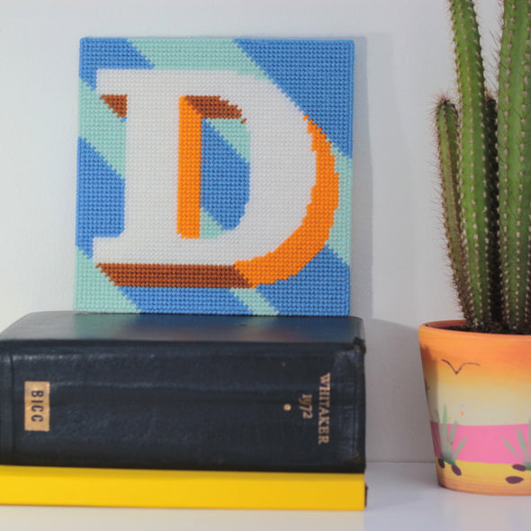 Letter 'D' Needlepoint Kit - Hannah Bass