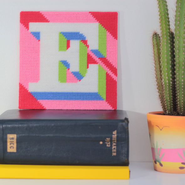 Letter 'E' Needlepoint Kit - Hannah Bass