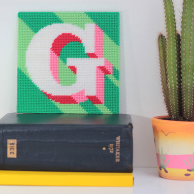 Letter 'G' Needlepoint Kit - Hannah Bass