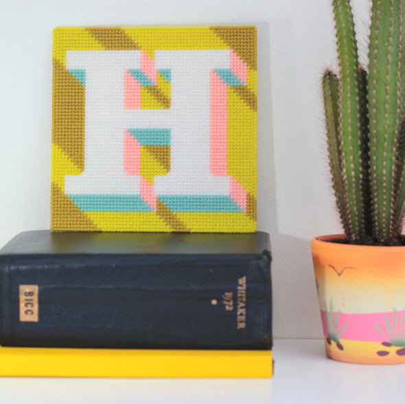 Letter 'H' Needlepoint Kit - Hannah Bass