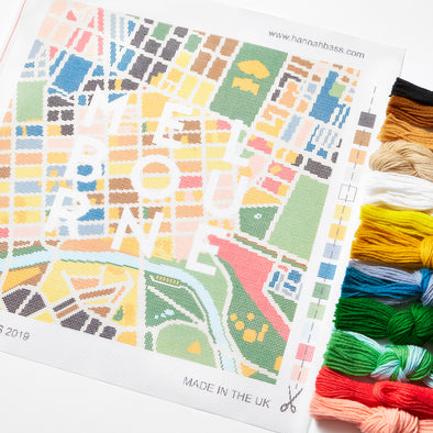 Melbourne City Map Needlepoint Kit - Hannah Bass