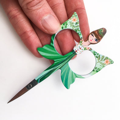 Green Fairy Embroidery Scissors