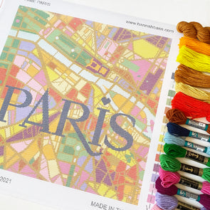 J'aime Paris City Map Needlepoint Kit
