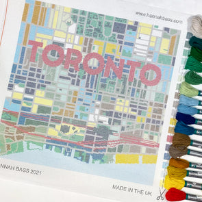 Toronto City Map Needlepoint Kit