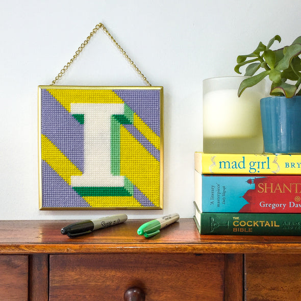 Yellow 'I' Alphabet NeedlepointKit