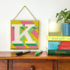 Yellow 'K' Alphabet Needlepoint Kit