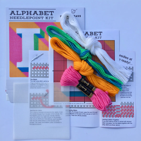 Letter 'L' Needlepoint Kit - Hannah Bass