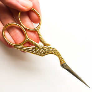 11.5cm Gold Stork Scissors - Hannah Bass