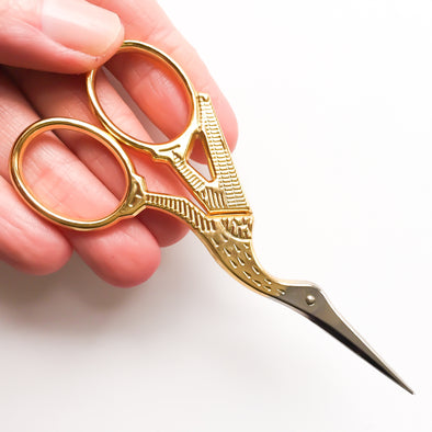 9cm Gold Stork Scissors - Hannah Bass