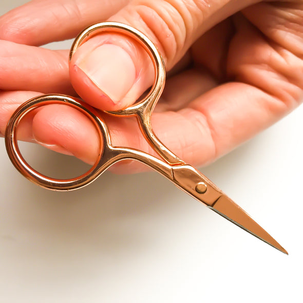 Rose gold embroidery scissors - Hannah Bass