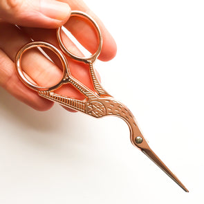 Rose Gold Stork Scissors - Hannah Bass