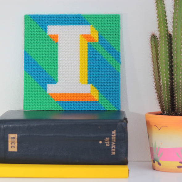 Letter 'I' Needlepoint Kit - Hannah Bass
