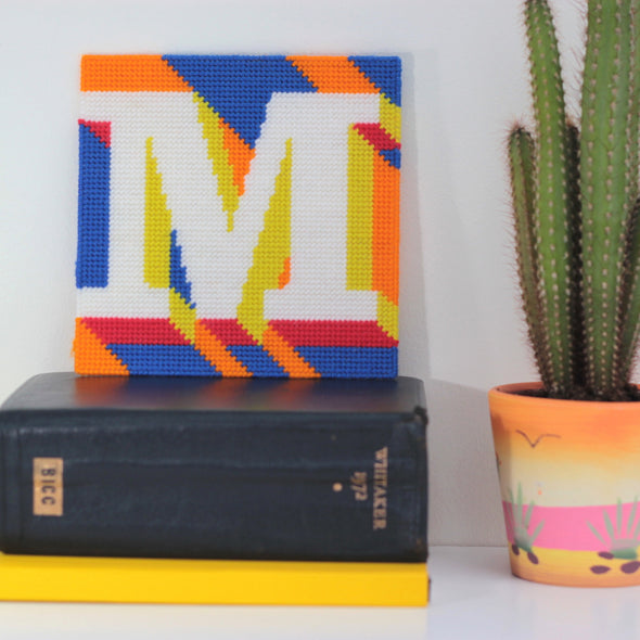 Letter 'M' Needlepoint Kit - Hannah Bass