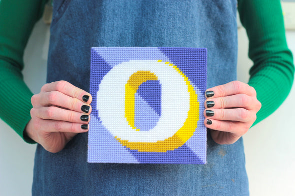 Letter 'O' Needlepoint Kit - Hannah Bass