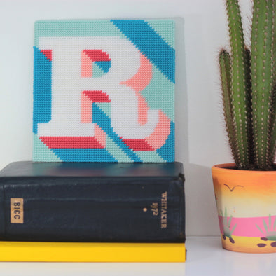 Letter 'R' Needlepoint Kit - Hannah Bass