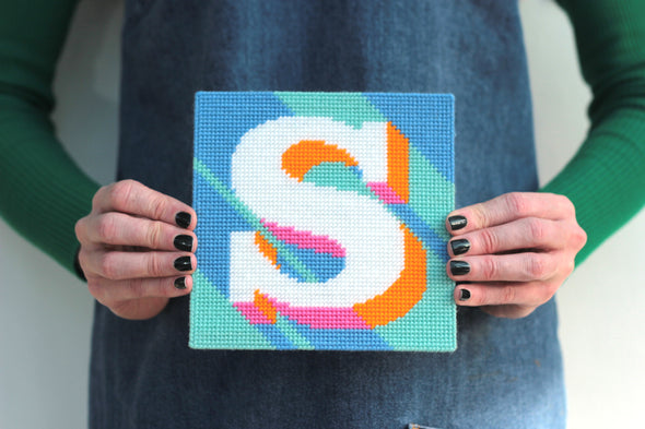 Letter 'S' Needlepoint Kit - Hannah Bass
