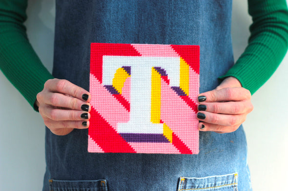 Letter 'T' Needlepoint Kit - Hannah Bass