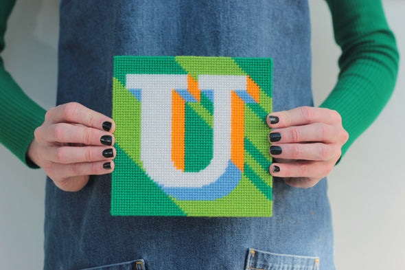 Letter 'U' Needlepoint Kit - Hannah Bass