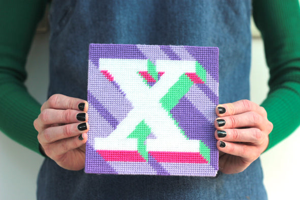Letter 'X' Needlepoint Kit - Hannah Bass