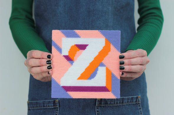 Letter 'Z' Needlepoint Kit - Hannah Bass