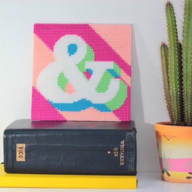 Ampersand '&' Needlepoint Kit - Hannah Bass
