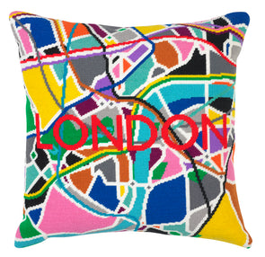 London Tube City Map Needlepoint Kit - Hannah Bass