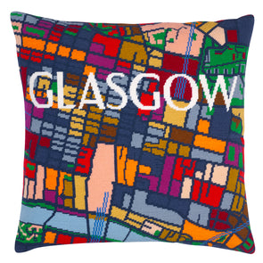Glasgow City Map Needlepoint Kit - Hannah Bass