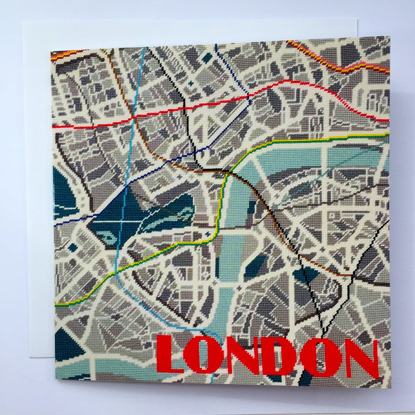 London Metro Greeting Card - Hannah Bass