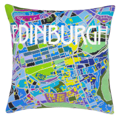 Edinburgh City Map Needlepoint Kit - Hannah Bass