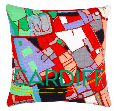 Cardiff City Map Needlepoint Kit - Hannah Bass