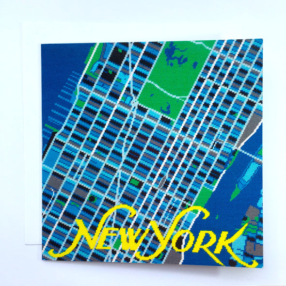 New York City Map Greeting Card - Hannah Bass
