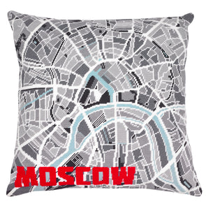 Moscow City Map Needlepoint Kit - Hannah Bass
