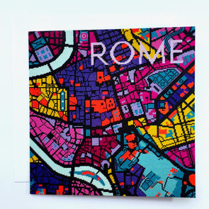 Rome City Map Greeting Card - Hannah Bass