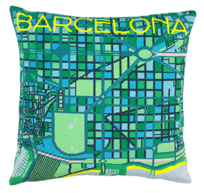 Barcelona City Map Needlepoint Kit - Hannah Bass