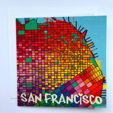 San Francisco City Map Greeting Card - Hannah Bass