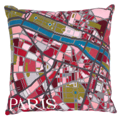 Paris City Map Needlepoint Kit - Hannah Bass