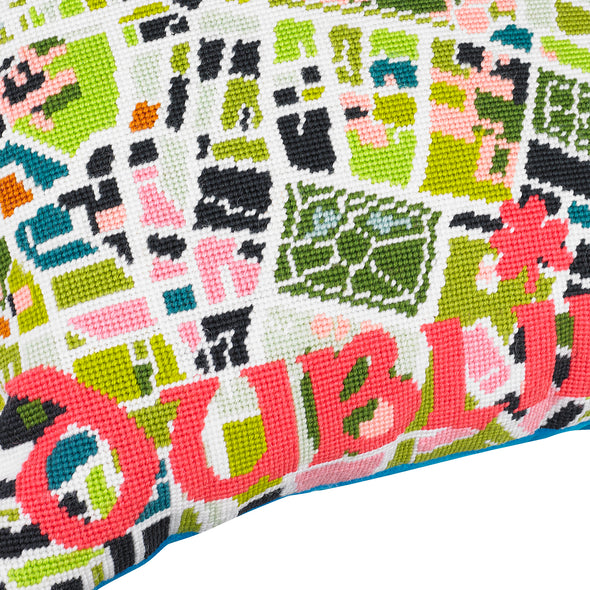 Dublin City Map Needlepoint Kit - Hannah Bass