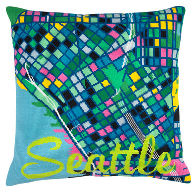 Seattle City Map Needlepoint Kit - Hannah Bass