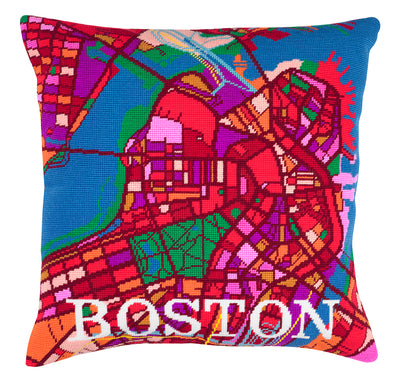Boston City Map Needlepoint Kit - Hannah Bass
