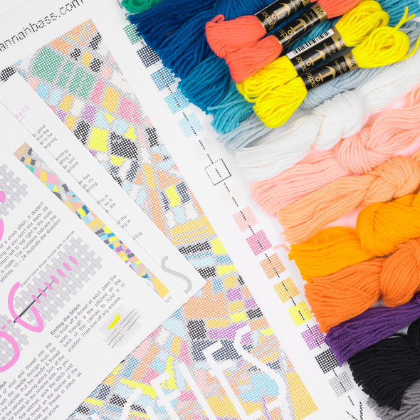 Los Angeles City Map Needlepoint Kit - Hannah Bass