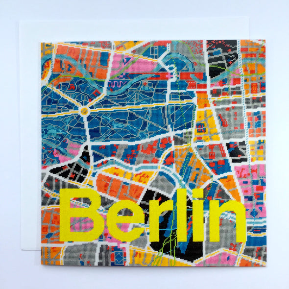 Berlin City Map Greeting Card - Hannah Bass