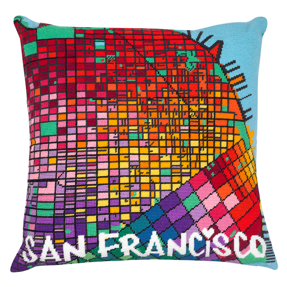San Francisco City Map Needlepoint Kit - Hannah Bass