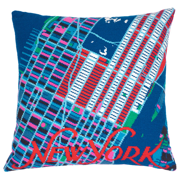 New York America City Map Needlepoint Kit - Hannah Bass