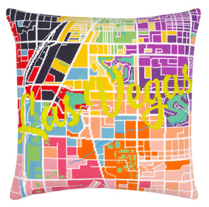Las Vegas City Map Needlepoint Kit - Hannah Bass