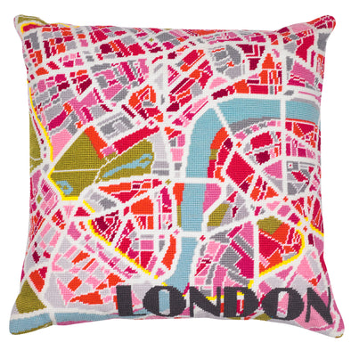London Light City Map Needlepoint Kit - Hannah Bass